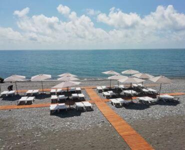 Все на пляж! Пляж Парк-отеля «Морская Даль»